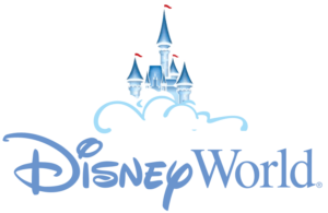 Disney World logo with castle